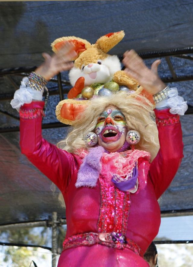 Amber Alert is named winner of the Easter Bonnet competition at the 37th annual Easter in the Park celebration put on by the Sisters of Perpetual Indulgence in San Francisco, Calif., on Sunday March 27, 2016. Photo: Brittany Murphy, The Chronicle
