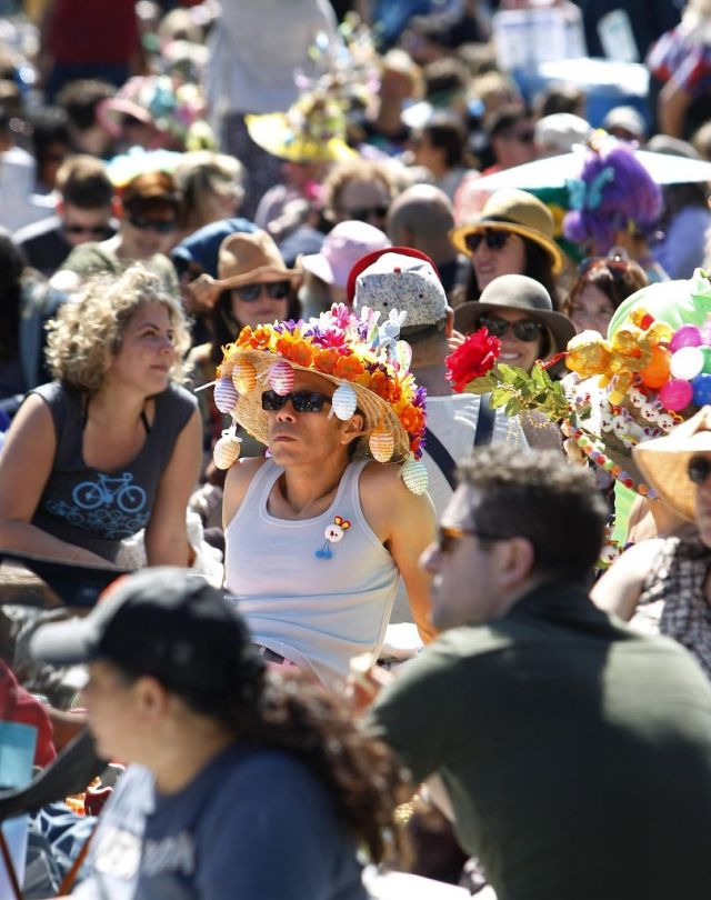 Hundreds of event-goers showed up at Golden Gate Park in a variety of Easter attire during the 37th annual Easter in the Park celebration put on by the Sisters of Perpetual Indulgence in San Francisco, Calif., on Sunday March 27, 2016. Photo: Brittany Murphy, The Chronicle