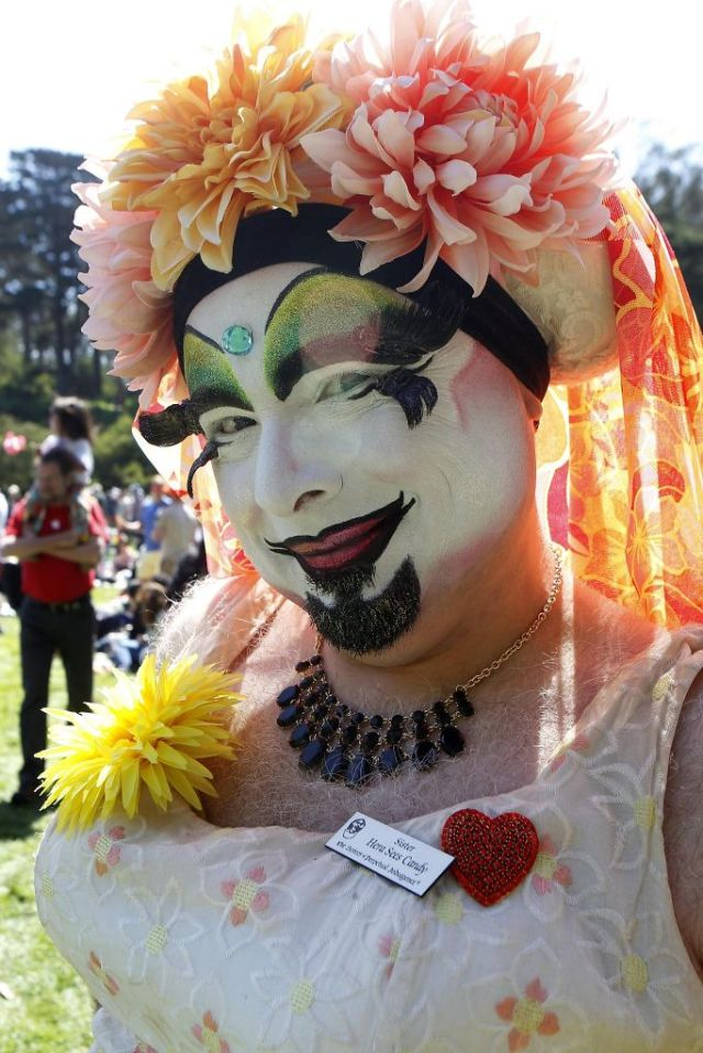 Sister Hera Sees Candy poses for a picture at the 37th annual Easter in the Park celebration put on by the Sisters of Perpetual Indulgence in San Francisco, Calif., on Sunday March 27, 2016. Photo: Brittany Murphy, The Chronicle