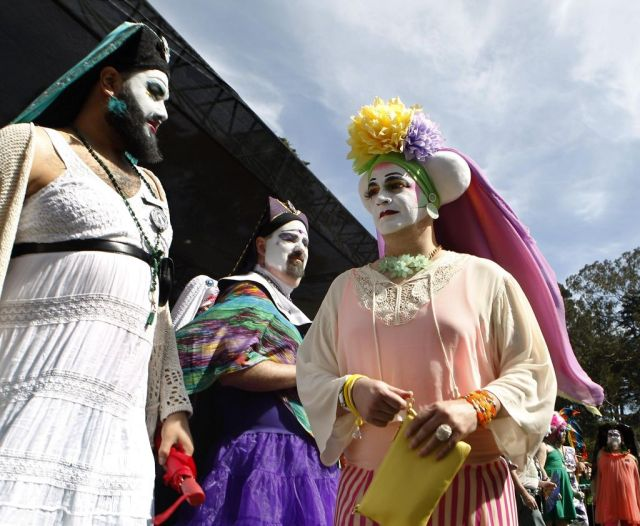 Sister of Perpetual Indulgence came from all over the area to attend the 37th annual Easter in the Park celebration put on by the their organization in San Francisco, Calif., on Sunday March 27, 2016. Photo: Brittany Murphy, The Chronicle