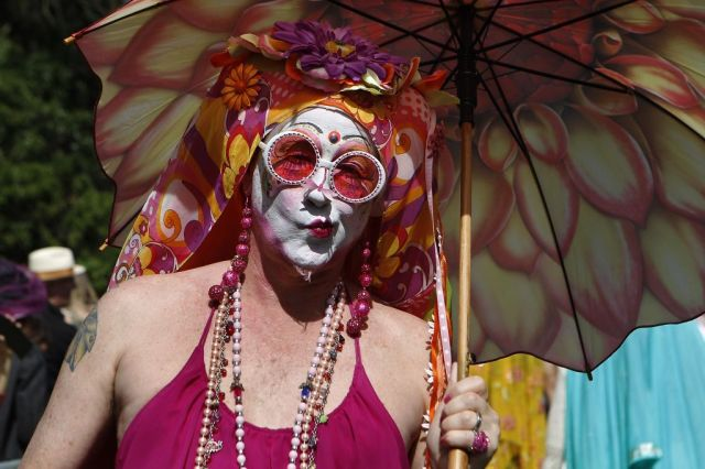 Sister Bella de Ball poses for a picture during the 37th annual Easter in the Park celebration put on by the Sisters of Perpetual Indulgence in San Francisco, Calif., on Sunday March 27, 2016. Photo: Brittany Murphy, The Chronicle